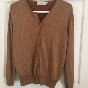 Melanie Lyne - Cardigan rusty golden